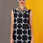 mini dress in black and white design