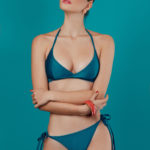 helix neck turquoise glossy bikini - antmarkant