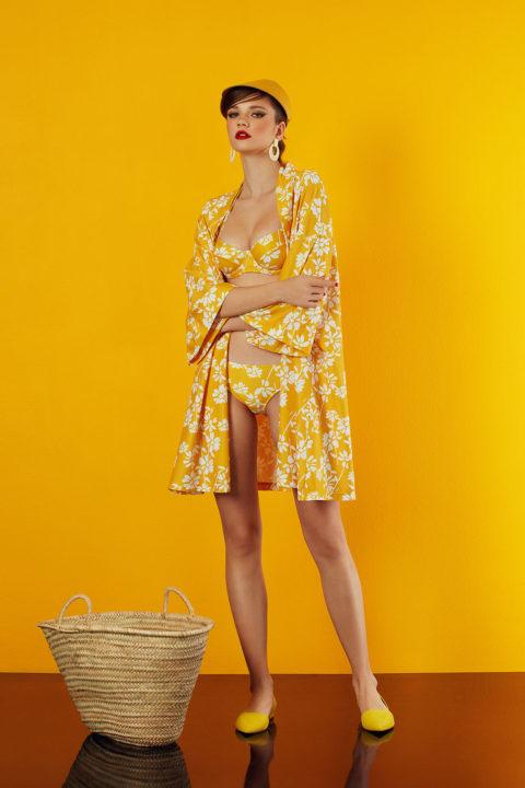 kimono in yellow design - antmarkant