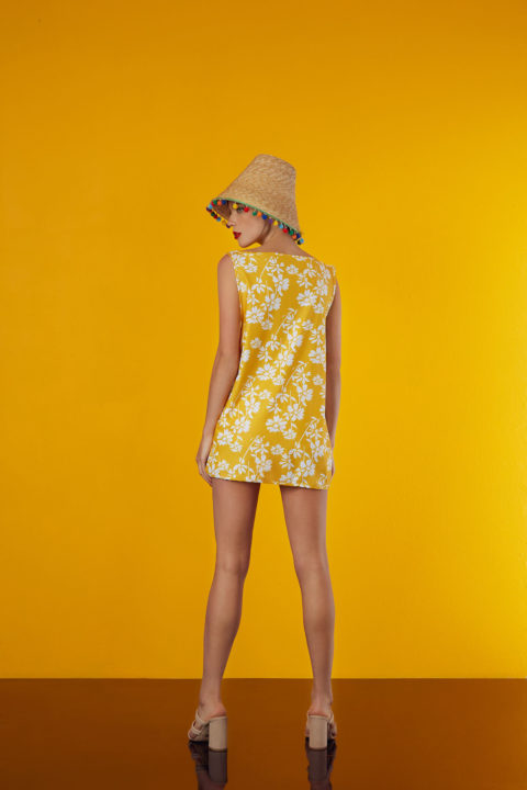 mini dress in yellow design - antmarkant