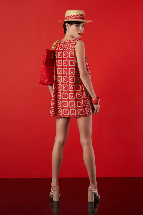 mini dress in red design - antmarkant