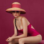 square fuchsia glossy swimsuit - antmarkant