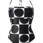 swimwear in black and white design - antmarkant