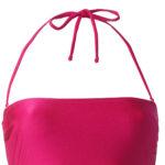square swimwear in fuchsia glossy color