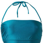 square swimwear in turquoise glossy color