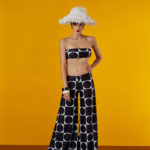 strapless top in black and white design - antmarkant